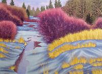 """Gordon Mortensen """"Manitoba"""" Hand Signed Fine Art woodcut snow winter SUBMITOFFER"""