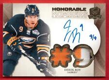 2011-12 UD THE CUP HONORABLE NUMBERS 3 CLR #HN-DR 9/9 DEREK ROY BUFFALO SABRES