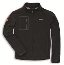 Ducati Windproof Windstopper-Jacke Schwarz mit roten Ziernähten Größe M