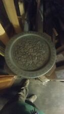 HUGE ANTIQUE ISLAMIC MIDDLE EASTERN COPPER TABLE TRAY HAND Hammer24inch wide