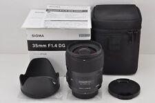 SIGMA Art 35mm F1.4 DG HSM AF Lens for Nikon F Mount with Box #170501a