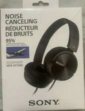 Sony MDR-ZX110NC Noise Canceling On-Ear Wired Headphones  - Black (BRAND NEW)
