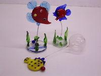 Pescado / Peces: Multicolor Vidrio: Handarbeit / Único : Aquarium-Dekoration