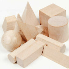 Baby Child Wood Geometric Shape Blocks Smooth Kids Puzzle Toy Gift Age 3+