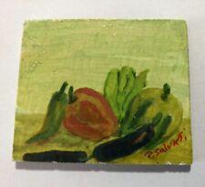 Paolo Salvati, miniatura 1998, olio su tavola cm 6x5.