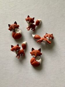 *BULK* OUT FOXED DRESS IT UP NOVELTY CRAFT BUTTONS JEWELLERY HOBBY ANIMAL WILD
