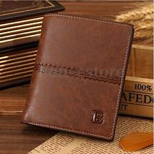 Men Leather Thin Bifold ID Card Holder Wallet Billfold Handbag Slim Clutch Bag