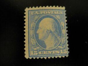Scott #382 1910-11 .15 cent Washington Mint Hinged