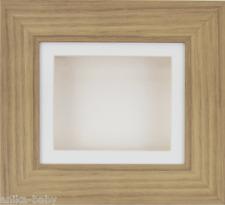 New Oak effect Deep Box Display Frame Object Craft 3D Art Baby Casts CREAM Mount