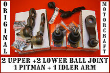 Upper Ball Joint Lower Ball Joint Pitman Arm Idler Arm Ford Crown Victoria 6 pcs
