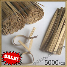 "Sale!! - 5000pcs 4"" Paper Kraft Twist Ties for Bakery Cello Bags"