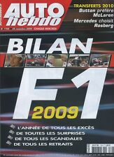 AUTO HEBDO n°1728 du 25 Novembre 2009 BILAN F1 2009 WTCC & F3 MACAO