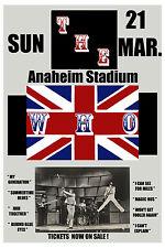 Rock: The Who at Anaheim Stadium Concert Poster Circa 1975