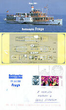 GERMAN PASSENGER SHIP MS FREYA A SHIPS CACHE COVER & A FOLDED INFO BROCHURE