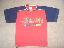 Chicos Azul Marino y Rojo Camiseta espacioso 3 - 4 años de edad