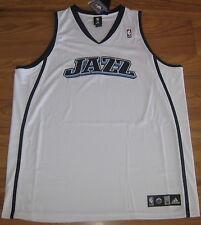 UTAH JAZZ AUTHENTIC ADIDAS JERSEY XXXL 3XL 56 3X NBA BLANK NEW SEWN CUSTOM WHITE