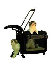 "Tutto 20"" Medium Pet On Wheels Travel Carrier 4220BPB (Black) NEW"