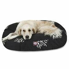 Black Coral Large Round Indoor Outdoor Pet Dog Bed With Removable Washable Co.