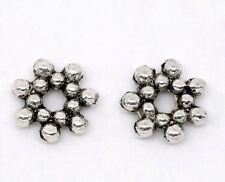 30x Metallperlen Spacer beads antiksilber Blume 6,5mm NEU