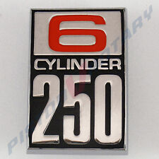 6 CYLINDER 250 Guard Badge New for Ford CORTINA TC TD Panel MK1 MK2 GT GS XLE