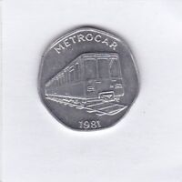 Metrocar 1981 National Transport Token 20 Marke Jeton