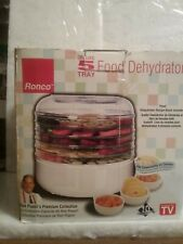 Ronco Deluxe 5 Tray Food Dehydrator Good In Box + 2 herb screens