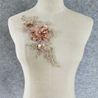 sequin pink embroidery flower neckline clothing applique lace collar