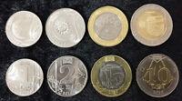 MOLDOVA SET 4 UNC 1 2 5 10 LEI 2018 BI-METALLIC COIN UNC