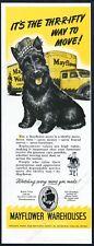 1949 Scottie dog Scottish Terrier Cute art Mayflower moving vintage print ad