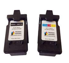 Reman OEM Canon 540XL and 541XL -HIGH CAPACITY- Cartridges Pixma mg3550