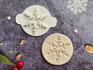 Snowflake | Embossing Stamp | ebs220 | Christmas | Cupcake | Fondant Cake