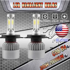 CREE COB H4 9003 200W 20000LM 3 Side LED Headlight Kit Hi/Lo Beam Bulbs 6000K US