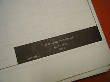 1973 MERCURY METEOR FACTORY WIRING DIAGRAMS MANUAL SCHEMATIC SHEETS