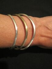 Signed Tr-44 Weighs 28 Grams 925 Mexico two tone Cuff Bracelet