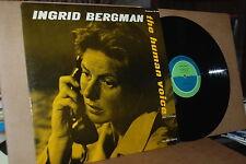 INGRID BERGMAN: THE HUMAN VOICE; A PLAY BY JEAN COCTEAU; CAEDMON MINT- LP; NO CD