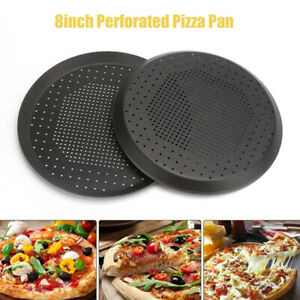 Nonstick Pizza Pan With Holes Steel Round Crispy Crust Oven Tray Perforated E