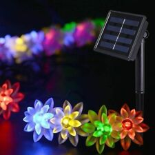Amzdeal 50 Lotus Shape LED Solar Fairy Lights x2, Multi-Colour, BNIB, Box Dam(I)
