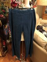 Ladies sz medium lounge pants in Teal velour by NY Jeans. FREE ship!