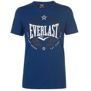 EVERLAST Crew Neck T-Shirt Top Tee - Blue Laurel - Size S to 4XL - OZ STOCK!