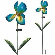 4 Colours- IRIS Flower Solar Light Garden Stake Creekwood Regal Art & Gift Boxed