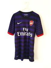 Arsenal Away Camiseta 2012. pequeño Adultos. Nike Manga Corta De Fútbol Púrpura Superior S.