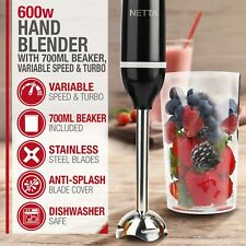 600W Electric Immersion Hand Blender Mixer Chopper Grade A Refurbished