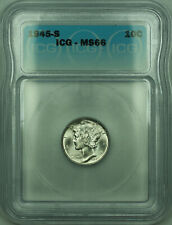 1945-S Mercury Silver Dime 10c Coin ICG MS-66 (D)