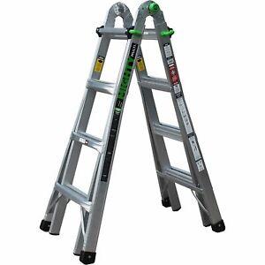 Ascent Mighty Multi-Position Ladder 17ft Aluminum- 300lb. Capacity Model#AHL-17