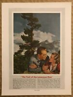 RARE Vintage 1936 THE TRAIL OF THE LONESOME PINE AD Sylvia Sidney Fred MacMurray