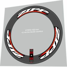 ZIPP 808 SPEED WEAPONRY STYLE WHITE & RED REPLACEMENT RIM DECALS FOR 2 RIMS