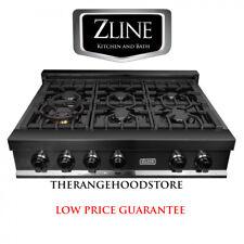 "New Zline 36"" Ceramic Rangetop In Black Stainless Steel 6 Gas Burner Rtb-36"