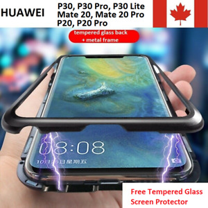 Huawei Mate 30, P30, Mate 20, P20 Pro Lite Magnetic Adsorption Single Glass Case