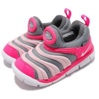 Nike Dynamo Free TD Grey Pink White Toddler Infant Baby Shoes Sneaker 343938-019