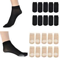 5Pairs Women Nylon Socks Boat Invisible Anti-Skid Low Cut No-show Non-Slip Liner